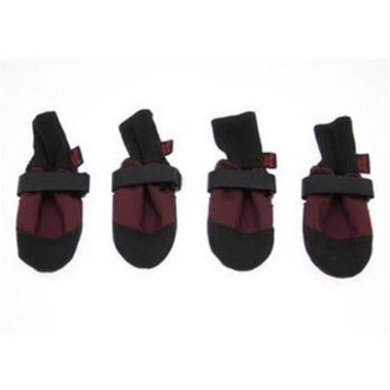 Digpets Muttluks Woof Walkers Burgundy Dog Boots XXX-Small