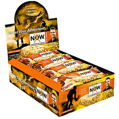 NOW Energy Bar High Protein Bars Peanut & Caramel