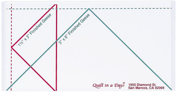 Quilt In A Day Inc. Quilt In A Day Flying Geese Ruler Small
