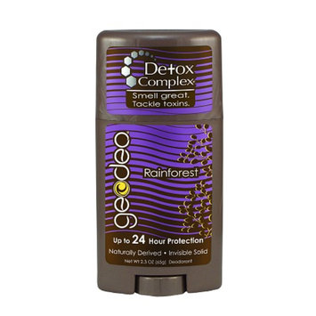 GEODEO Natural Deodorant with Detox Complex, Invisible Solid Rainforest