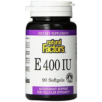Natural Factors Vitamin E (d-alpha Tocopheryl Acetate) 400iu Softgels, 90-Count