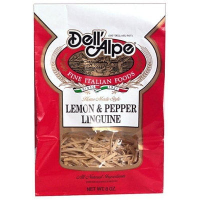Dell' Alpe Lemon Pepper Linguine, 8-Ounce (Pack of 6)