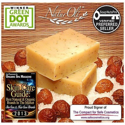 NaturOli Soap Nut / Soap Berry Soap Bars - All Natural, All Body. Enjoy the benefits of Soap Nuts in Handmade Soap Bars! Made with USDA Organic Soap Nuts. - Made in USA!
