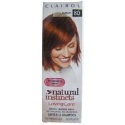 Clairol Natural Instincts Loving Care Hair Color Crème Lotion 80 Auburn One 3 oz. Bottle