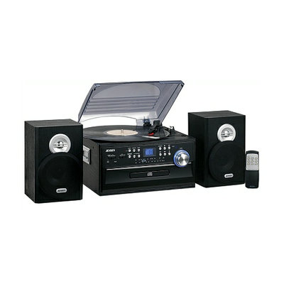 Jensen 3-Speed Stereo Turntable with CD System