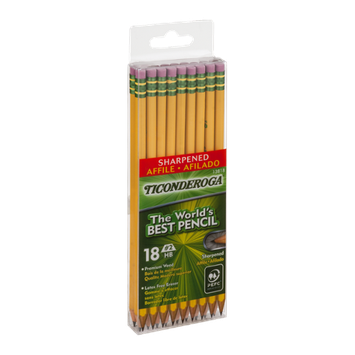 Ticonderoga Pencils Sharpened - 18 CT