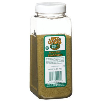 Spice Classics Poultry Seasoning (no Msg), 15-Ounce Plastic Bottle (Pack of 2)