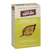Back To Nature Seeded Flatbread Crackers Multigrain Flax