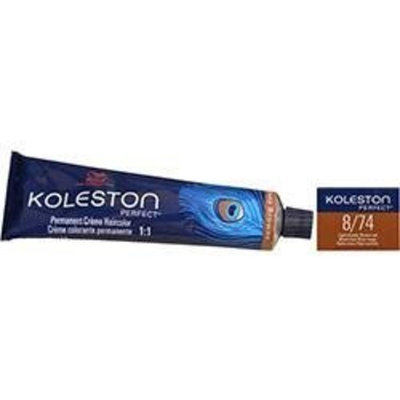 Wella Koleston Perfect Permanent Creme Haircolor 1:1 8/74 Light Blonde/Brown Red