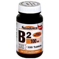 Nature's Bounty Sundown High Potency B2, 100 Mg, 100 Tablets [Health and Beauty]