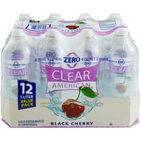 Clear American Black Cherry Sparkling Water, 1 l, 12pk