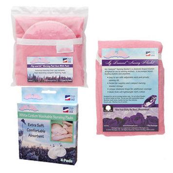 Nuangel, Inc. NuAngel Flip and Go Pink Nursing Pad Case Set