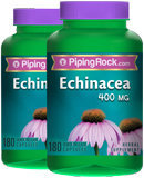Piping Rock Echinacea 400 mg 2 Bottles x 180 Capsules