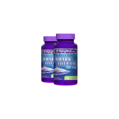 Piping Rock eco Shark Liver Oil 2 Bottles x 100 Softgels