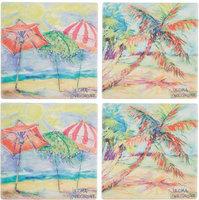 Leoma Lovegrove 4-pc. Palms Covered Coaster Set S/4