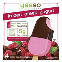 Yasso Frozen Greek Yogurt Dark Chocolate Raspberry 4 ct
