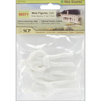Scp SCP 371 Male Figures 3 in. 3-Pkg-White