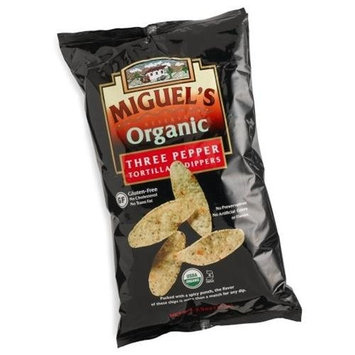 Miguels Miguel's Reserva Organic Three Pepper Tortilla Dippers, 7.5-Ounce Bags (Pack of 12)