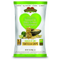 Corazonas Whole Grain Tortilla Chips, Squeeze of Lime, 7-Ounce Packages (Pack of 6)
