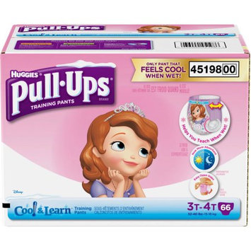 HUGGIES Pull-Ups Girls' Cool & Learn Training Pants, (Choose Your Size)