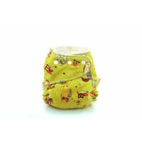 Kissaluvs Marvels One Size Fitted Diaper, Two Hoots