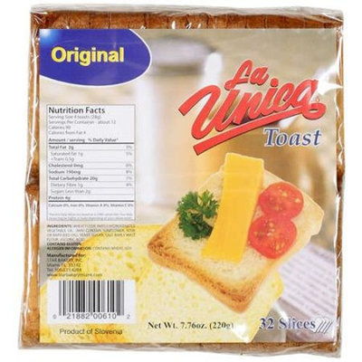 La Unica: Original Toast, 7.76 oz