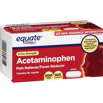 Equate Extra Strength Caplets Pain Reliever/Fever Reducer 100 Ct