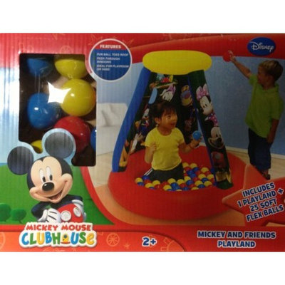 Disney Mickey Mouse Clubhouse Inflatable Ball Pit with 25 Soft Flex Balls