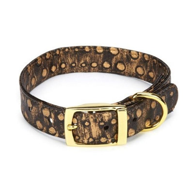 East Side Collection ESC West End Pet Collar - Gold Stud