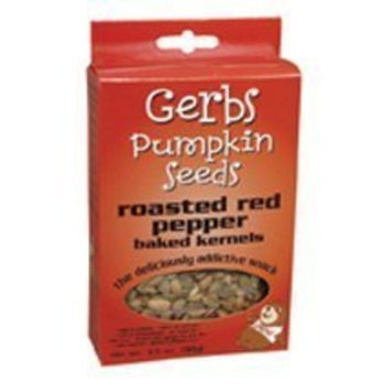 Gerbs Pumpkin Seed Roasted Red Pepper Pumpkins Seeds, Gluten-Free 3.5 oz. (Pack of 12)