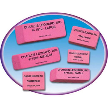 Charles Leonard CHL71506 Synthetic Wedge Erasers Small 36 per Box