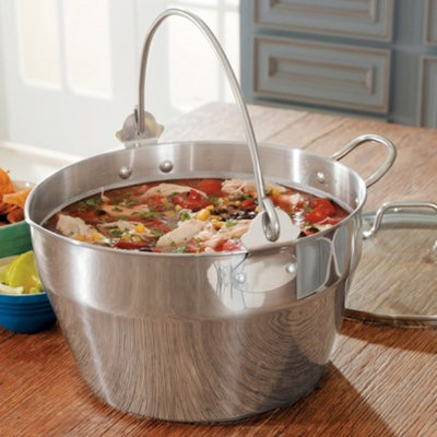 CHEFS Maslin Pan with Lid, 10 quart