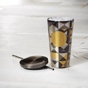 Cold Cup Tumbler - Gold & Black Geometric, 16 fl oz Starbucks