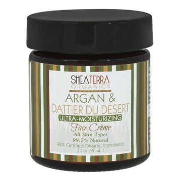 Shea Terra Organics - Argan & Dattier Du Desert Ultra-Moisturizing Face Creme - 2 oz.