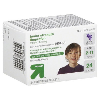 up & up Children's Ibuprofen Chewable Tablets - Grape (24 Count)