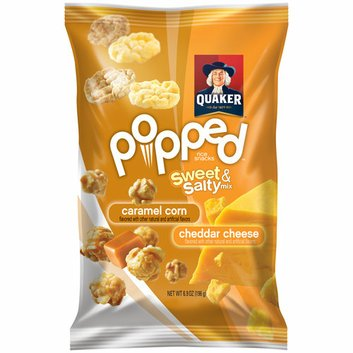 Quaker Popped Sweet & Salty Caramel Corn & Cheddar Cheese Rice Snacks