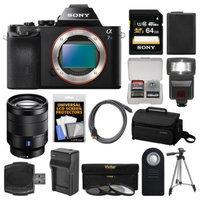 Sony Alpha A7S Digital Camera Body with Vario-Tessar T* FE 24-70mm f/4.0 ZA Lens + 64GB Card + Case + Flash + Tripod Kit