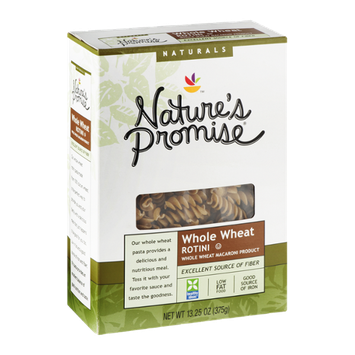 Nature's Promise Naturals Whole Wheat Macaroni Product Rotini