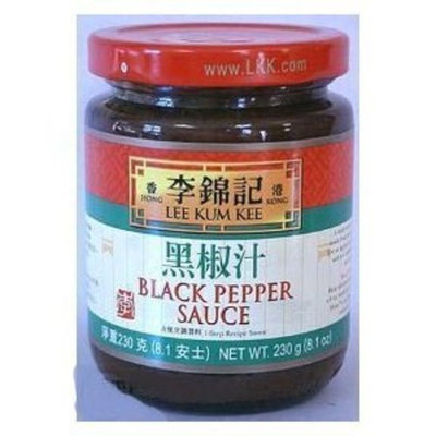 DragonMall Seasonings Lee Kum Kee Black Pepper Sauce, 8.1-ounce Jars (Pack of 3)