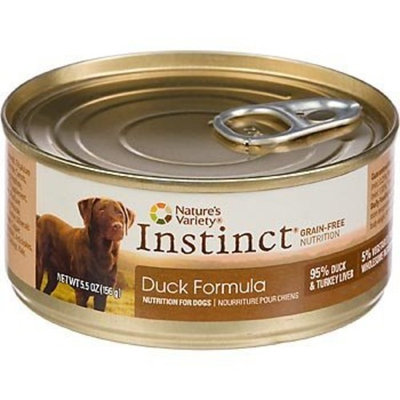 Nature's Variety Instinct Grain-Free Duck Canned Dog Food, 5.5 oz., Case of 12