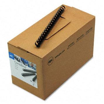 General Binding Corporation GBC4000104 Plastic Binding- .75in. Diameter- 150-Sht Cap- Black
