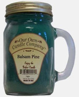 Our Own Candle Balsam Mason Jar 13.5 Ounce, Green