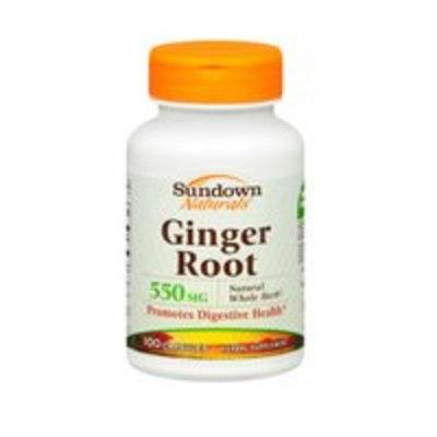 Sundown Naturals Sundown Naturals Ginger Root Whole Herb, 100 caps 550 mg(Pack of 3)