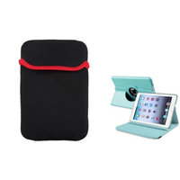 Insten iPad Mini 3/2/1 Case, by INSTEN Light Blue 360 Leather Case Cover+Pouch for Apple iPad Mini 3 2 1