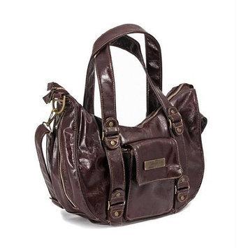 Ju Ju Be Ju-Ju-Be Behave Earth Leather Diaper Bag, Brown/Teal (Discontinued by Manufacturer)