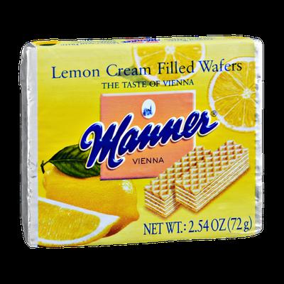 Manner Vienna Lemon Cream Filled Wafers