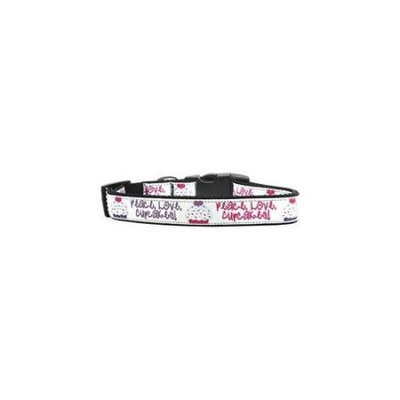 Ahi Peace Love Cupcakes Dog Collar Large