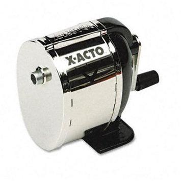 X-ACTO 1041 Boston Model L Table-Mount/Wall-Mount Manual Pencil Sharpener- Black/Chrome