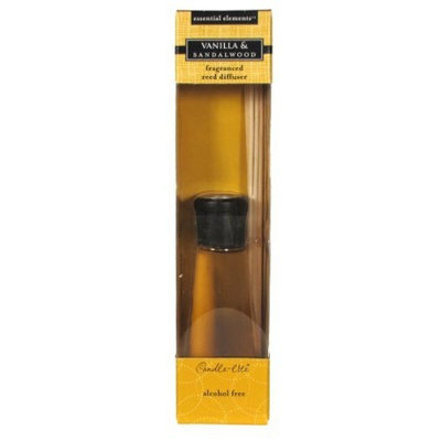 Candlelite Candle-lite Essential Elements 3.3-Ounce Reed Diffuser, Vanilla and Sandalwood