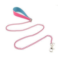 Fresh Leash, Pink Chain With Handle, 36-inch, Pink/blue